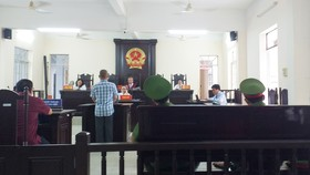 Phiên tòa xét xử bị cáo Hoàng Tuấn Quốc (ảnh CTV)