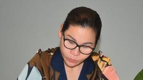 Bị can Lâm Thị Thu Trà tại thời điểm bị bắt giữ