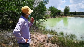 Khu vực hồ nước, nơi 2 anh em ruột tử vong khi đi thả lưới