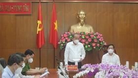 Phó Thủ tướng Thường trực Trương Hòa Bình kiểm tra công tác phòng chống dịch tại Bà Rịa - Vũng Tàu