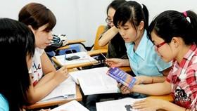 Sinh viên trong giờ học tiếng Anh