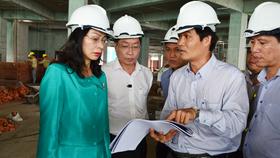 Phó chủ tịch UBND TPHCM Nguyễn Thị Thu kiểm tra giám sát công trình cơ sở 2 bệnh viện Ung Bướu