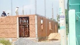 Một công trình vi phạm xây dựng ở huyện Hóc Môn (TPHCM)