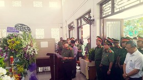 Thăng quân hàm cho đại úy công an tử vong lúc trực Tết