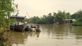 Một CSGT đường thủy mất tích khi tuần tra trên sông Hậu