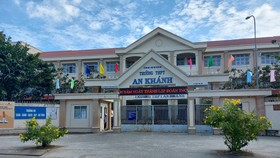 Trường THPT An Khánh, nơi xảy ra vụ việc. Ảnh: TUẤN QUANG