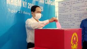 Phó Chủ tịch Thường trực Quốc hội Trần Thanh Mẫn bỏ phiếu bầu cử tại TP Cần Thơ