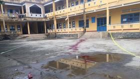 Vết máu nơi xảy ra vụ án mạng