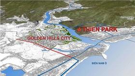 Khu đô thị Thiên Park nằm ở khu vực Tây Bắc TP Đà Nẵng