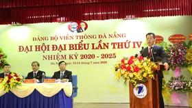 Ông Nguyễn Văn Quảng, Phó Bí thư Thường trực Thành ủy Đà Nẵng phát biểu tại Đại hội