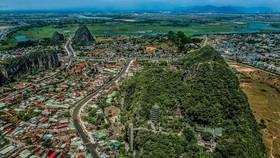 Một góc quận Ngũ Hành Sơn nhìn từ trên cao    Ảnh: Danangfantasticity