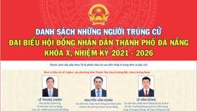 Đà Nẵng công bố danh sách 52 người trúng cử đại biểu HĐND thành phố khóa X, nhiệm kỳ 2021-2026
