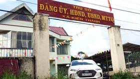 Trụ sở UBND xã Kiến Thành, nơi ông Sáng làm việc. Ảnh CÔNG HOAN.