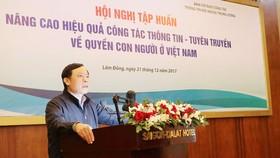 Nâng cao hiệu quả công tác thông tin, tuyên truyền về quyền con người ở Việt Nam
