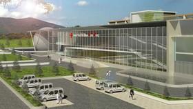 Phối cảnh công trình Bệnh viện Đa khoa II Lâm Đồng