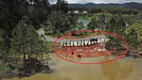 Thêm một công trình không phép ở hồ Tuyền Lâm bị tháo dỡ