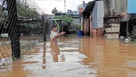 Mưa kéo dài, hơn 100 nhà dân tại phố núi Bảo Lộc bị ngập sâu