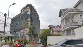 Khách sạn ở trung tâm Đà Lạt xây vượt tầng, sai phép 800m²