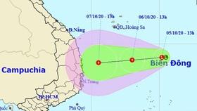 Khánh Hòa thông báo khẩn ứng phó vùng áp thấp