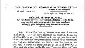 Nhiều sai phạm về đất công tại Khánh Hòa
