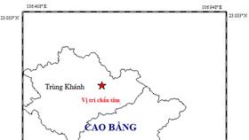 Động đất mạnh 5.4 độ richter tại huyện Trùng Khánh, tỉnh Cao Bằng