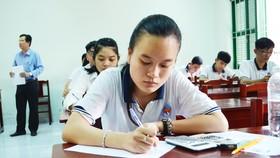 Thí sinh tham gia kỳ thi THPT quốc gia 2018