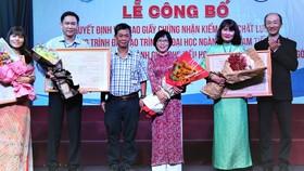3 chương trình sư phạm của Trường ĐH Sài Gòn đạt kiểm định chất lượng quốc gia