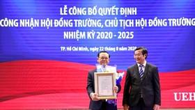GS-TS Nguyễn Đông Phong làm Chủ tịch Hội đồng trường ĐH Kinh tế TPHCM