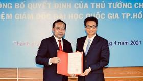 Trao quyết định bổ nhiệm ông Vũ Hải Quân làm Giám đốc Đại học Quốc gia TPHCM