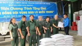 12 tấn gạo hỗ trợ đồng bào các tỉnh Quảng Bình, Hà Tĩnh và Nghệ An. Ảnh: Hoài Nam