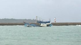 Chìm tàu trên vùng biển Bình Thuận (Ảnh minh họa)