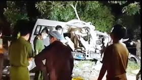 Hiện trường vụ tai nạn giao thông kinh hoàng.