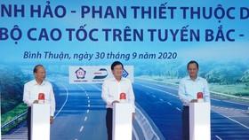 Phó Thủ tướng Chính phủ Trịnh Đình Dũng đã phát lệnh chính thức khởi công xây dựng đoạn cao tốc Vĩnh Hảo - Phan Thiết.