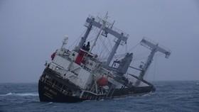 Tàu vận tải của Panama bị chìm trên vùng biển đảo Phú Quý, tỉnh Bình Thuận.