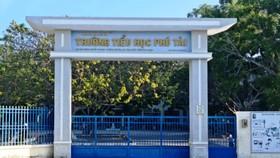 Trường Tiểu học Phú Tài, nơi xảy ra sự việc cô giáo rơi xuống lầu, bất tỉnh.