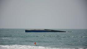 Tàu vận tải chở 1.500 tấn tro bay nhiệt điện bị chìm trên vùng biển Mũi Né.
