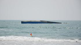 Tàu Bạch Đằng chở 1.500 tấn tro bay nhiệt điện và hơn 2.000 lít dầu DO bị chìm trên vùng biển Mũi Né (tỉnh Bình Thuận).