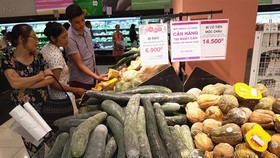 Vietnam's monthly consumer price index (CPI) in July rose again by 0.11 percent, following the rebound of food prices, according to the General Statistics Office (GSO). (Photo: VNA/VNS)