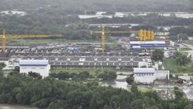 A corner of Binh Hung wastewater treatment plant, HCMC (Photo: SGGP)