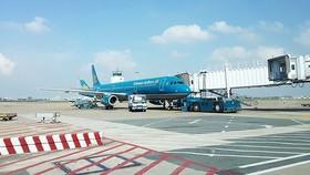 An aircraft in Tan Son Nhat Airport (Photo: SGGP)