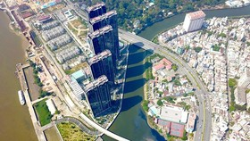 A top side view of the first metro line project Ben Thanh-Suoi Tien in the area of Ba Son shipyard, HCMC (Photo: SGGP)