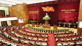 The 12th-tenure Party Central Committee opened its 10th meeting in Hanoi on May 16. (Photo: VNA)
