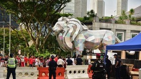 There will be around 5,600 people involved in safety and security measures for this year's National Day Parade at the Padang. (Source: straitstimes.com)