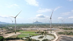 A wind power plant in Ninh Thuan province (Photo: SGGP)