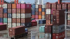 Containers at the Sihanoukville Autonomous Port. (Source: Khmer Times)
