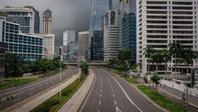 An empty street in Jakarta during COVID-19 (Source: Jakarta Globe)