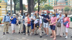 Foreign visitors to HCMC (Photo: SGGP)