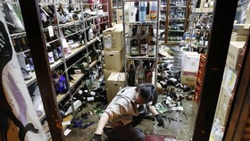 The quake, which was also felt in Tokyo, struck at around 11:07 pm on February 13. (Photo: Kyodo)