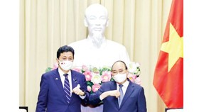 State President receives visiting Japanese Defence Minister