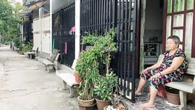 Một con hẻm trong khu 26 căn nhà xây dựng không phép